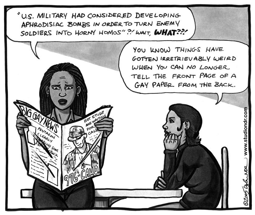editorial cartoon weaponized gay