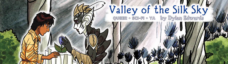 queer YA science fiction webcomic Valley of the Silk Sky