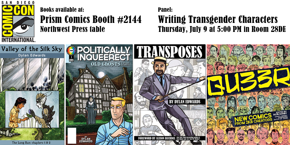 lgbtqia comics by Dylan Edwards at SDCC2015