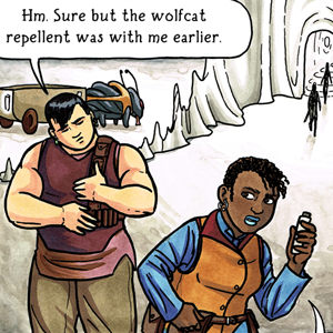 queer YA sci-fi webcomic Valley of the Silk Sky