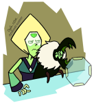Steven Universe fan art Peridot and pet Centipeetle