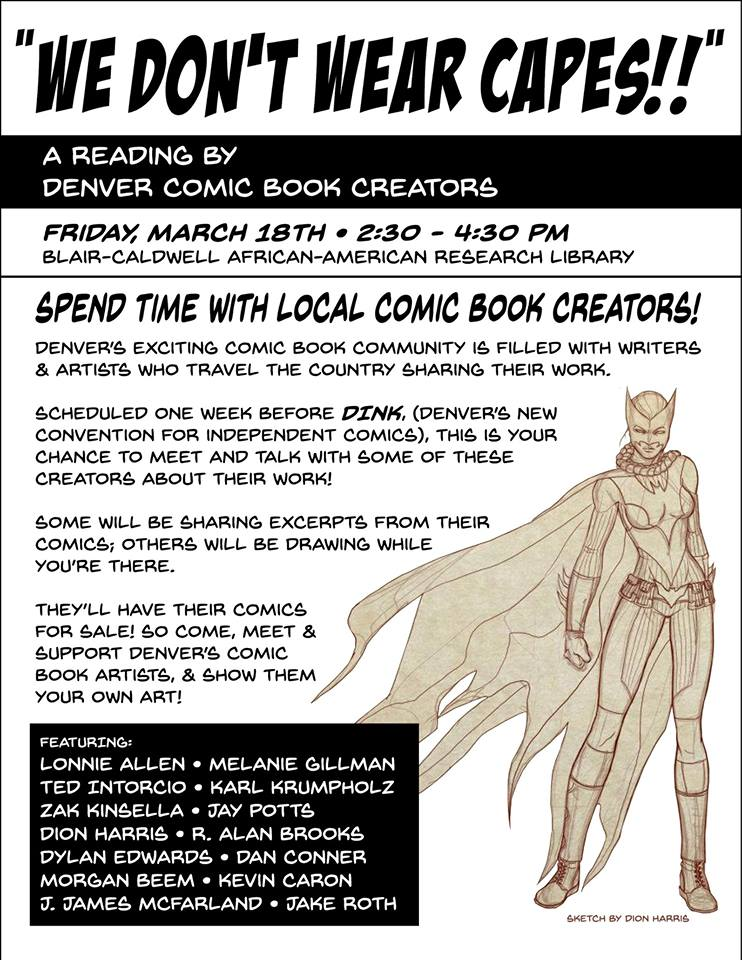 comics reading at Blair Caldwell African American Research Library