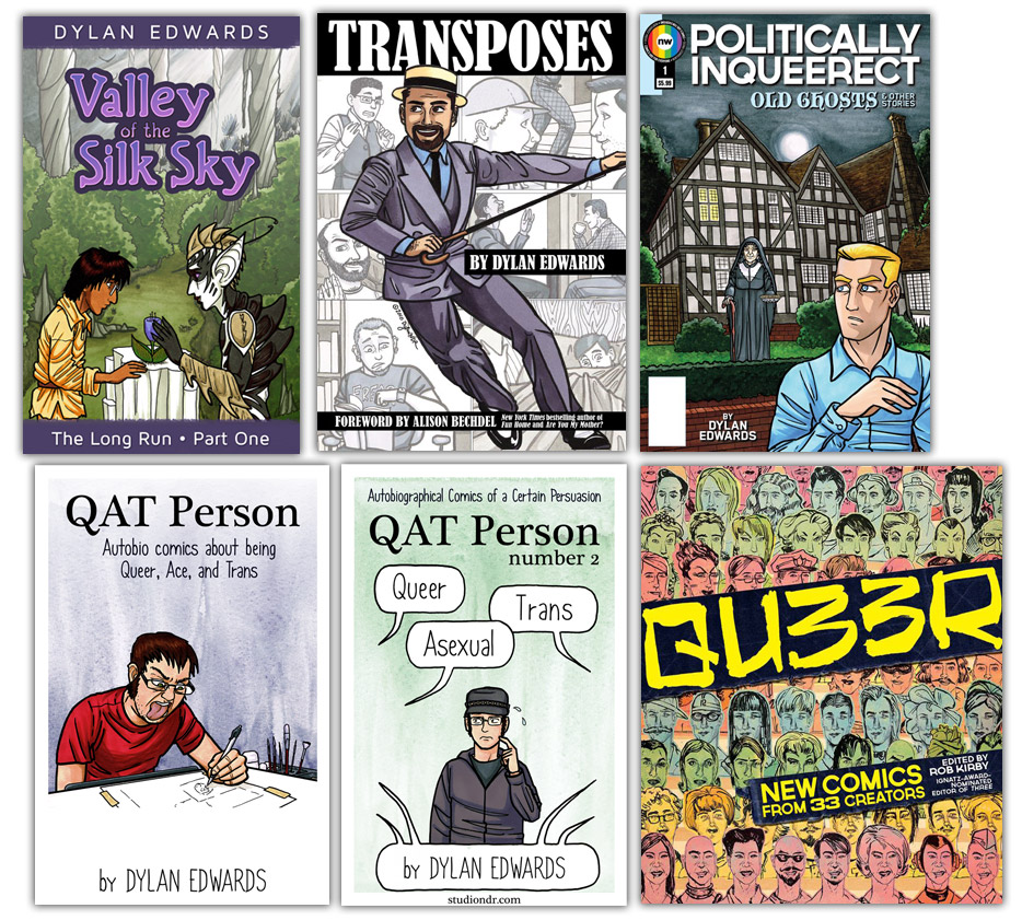queer and trans comics by Dylan Edwards
