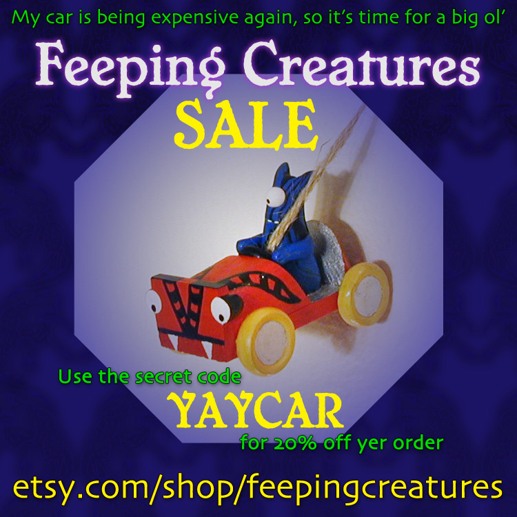 Feeping Creatures monsters for every occasion Etsy sale