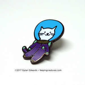 Feeping Creatures Catstronaut Cat Astronaut enamel pin