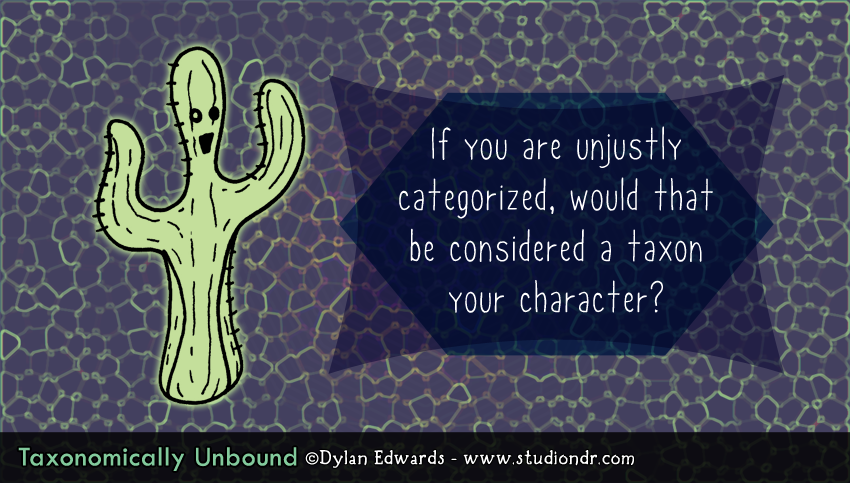 Taxonomically Unbound terrible pun comics