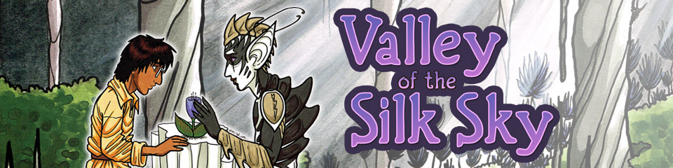 Valley of the Silk Sky queer YA sci fi webcomic