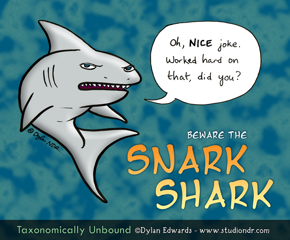 Taxonomically Unbound pun comics Snark Shark