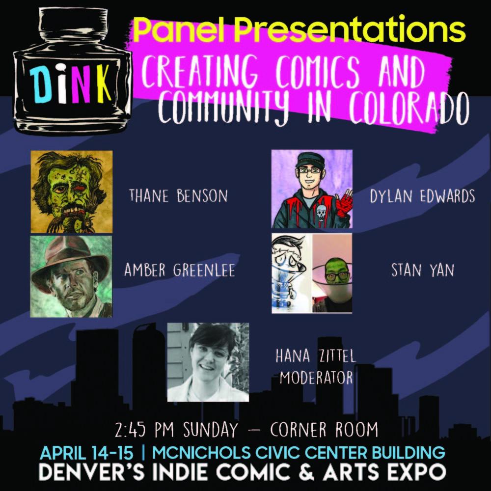 DiNK 2018 panel Creating Comics Community in Colorado