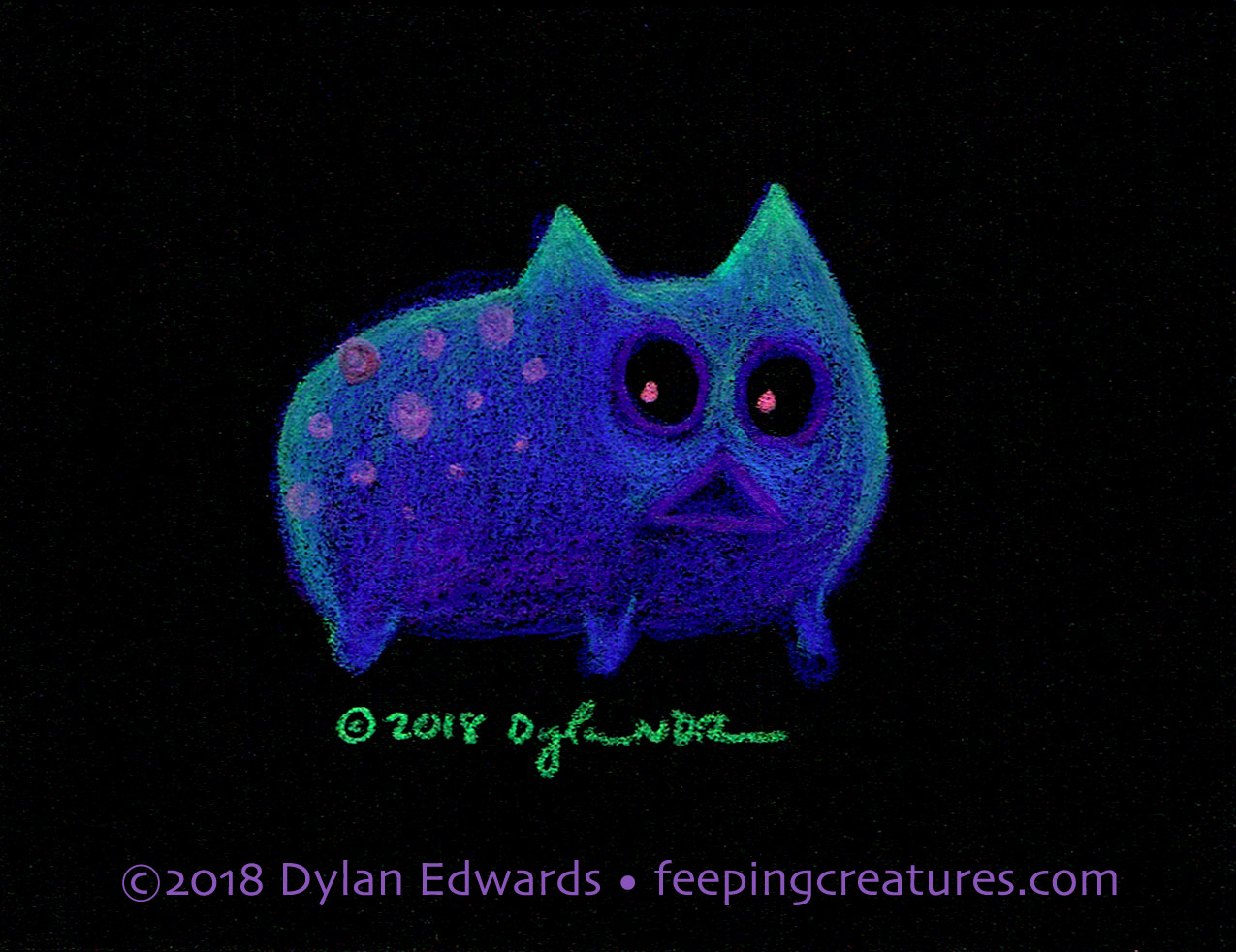 Feeping Creatures monster art by Dylan Edwards