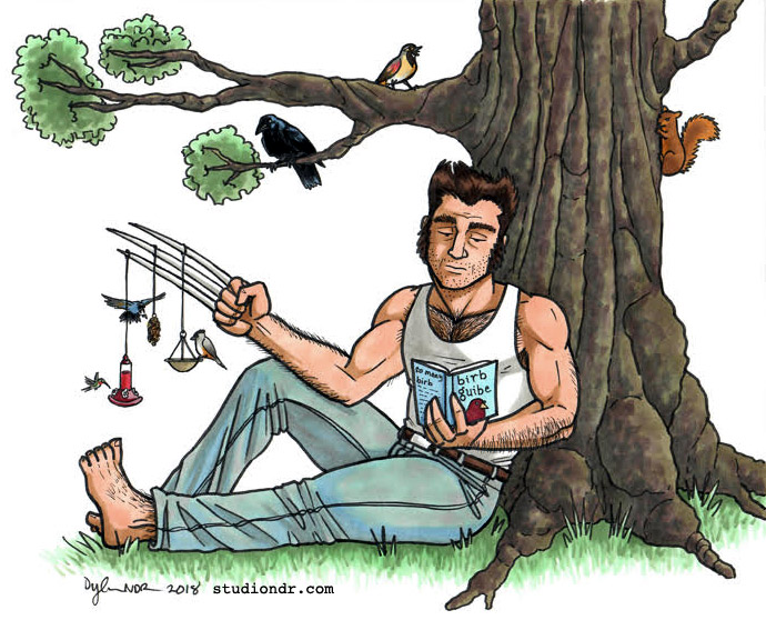 Wolverine is secretly a bird nerd