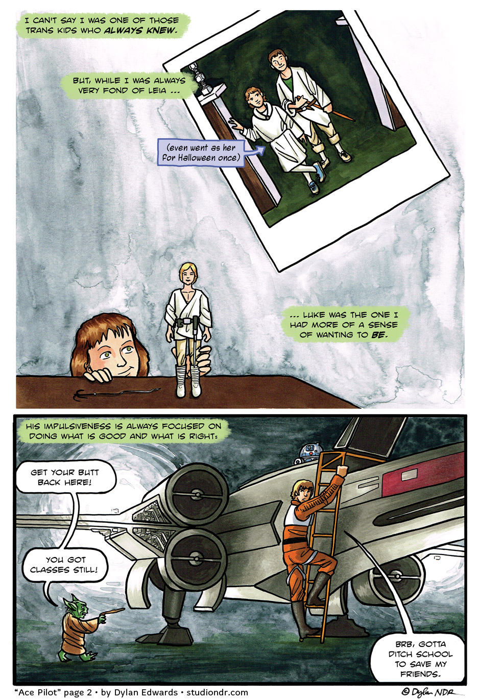 Ace Pilot - queer asexual trans comic