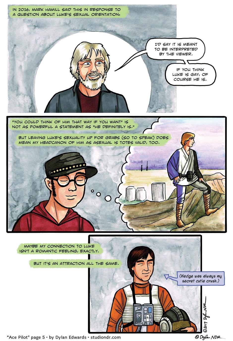 Ace Pilot - queer asexual trans autobio comic