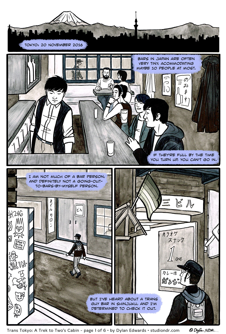 Trans Tokyo: A Trek to Two's Cabin - page 1