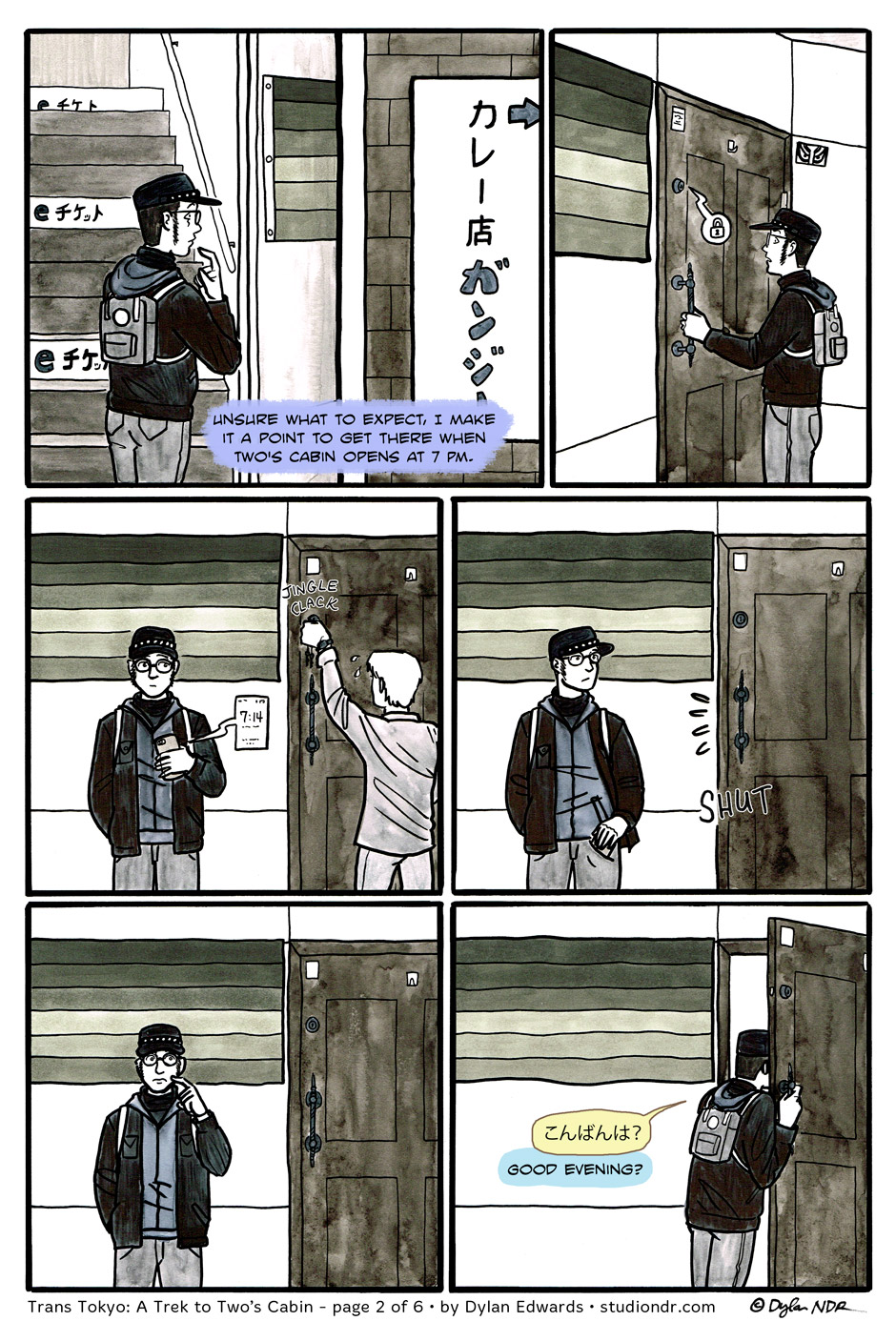 Trans Tokyo: A Trek to Two's Cabin – page 2