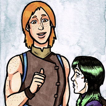 Valley of the Silk Sky queer YA sci-fi fantasy comic