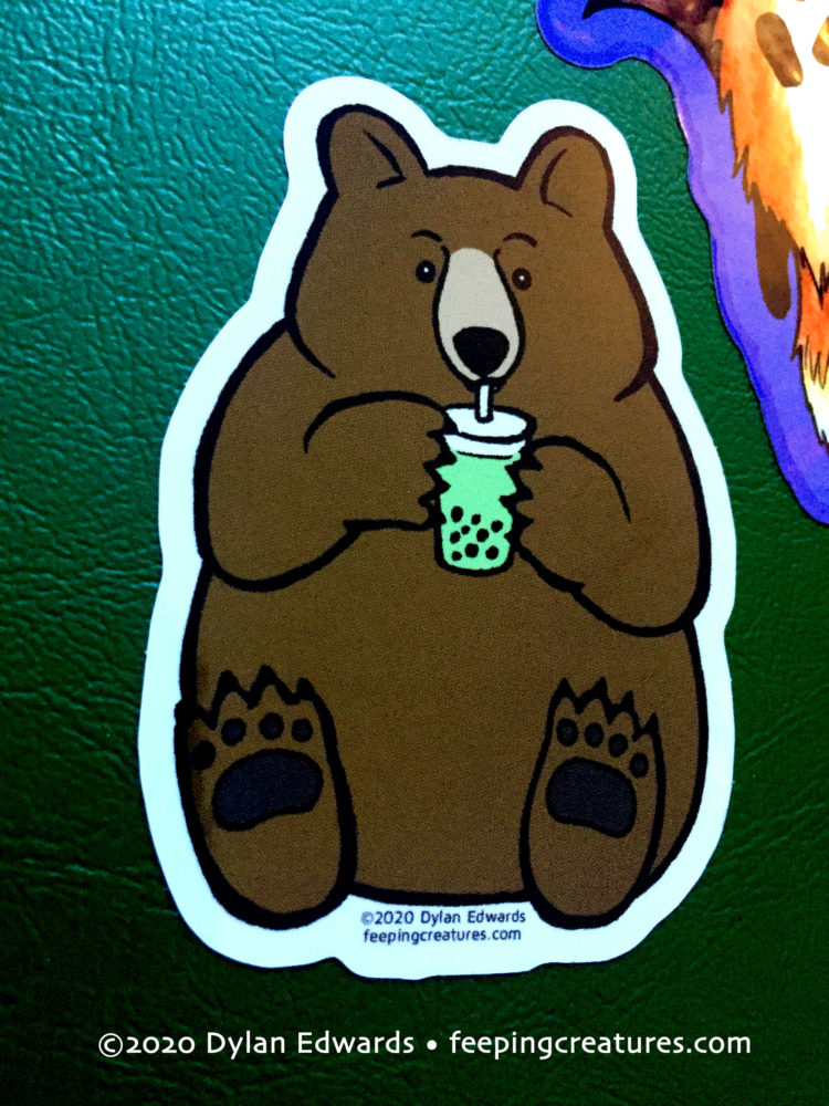 Bubble Tea Bear vinyl sticker